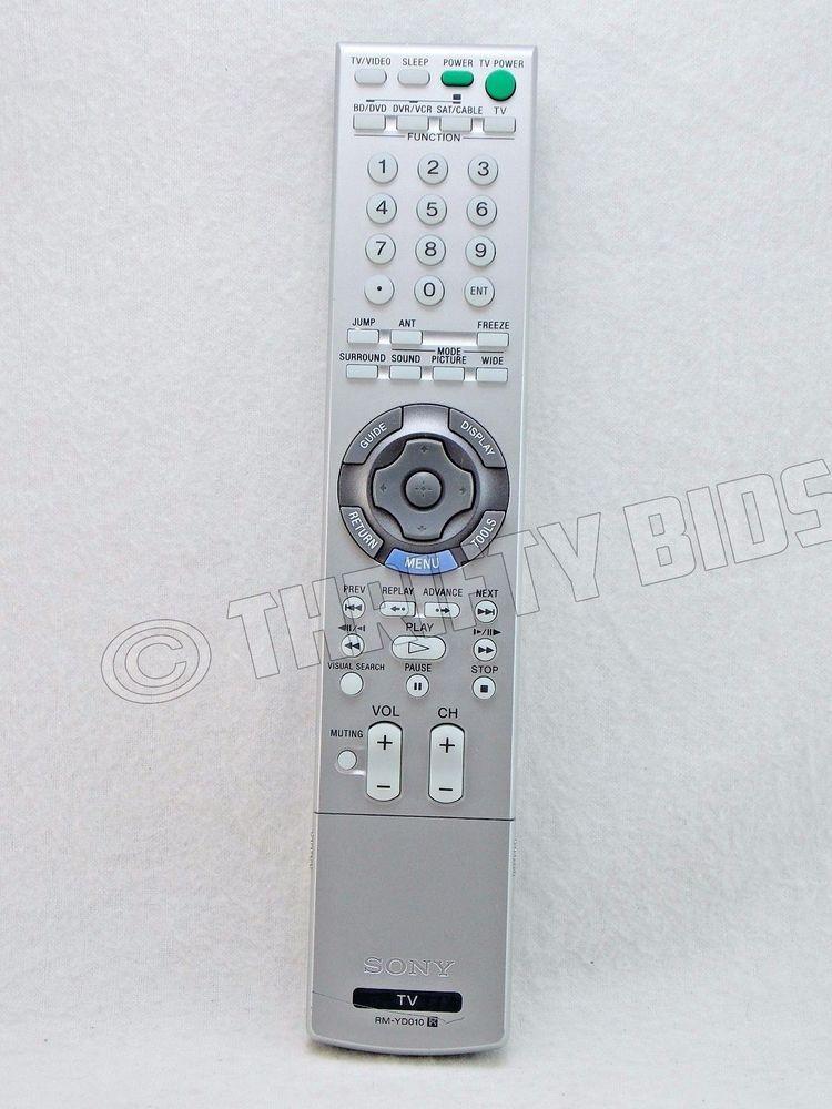 Genuine OEM Sony RM-YD010 TV Remote Control 147982711