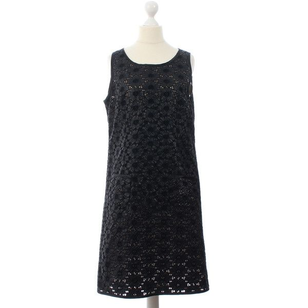 Pre-owned Dress with a floral pattern (7.005 RUB) ❤ liked on Polyvore featuring dresses, black, botanical dress, floral printed dress, sheer dress, flower printed dress and embellished dress