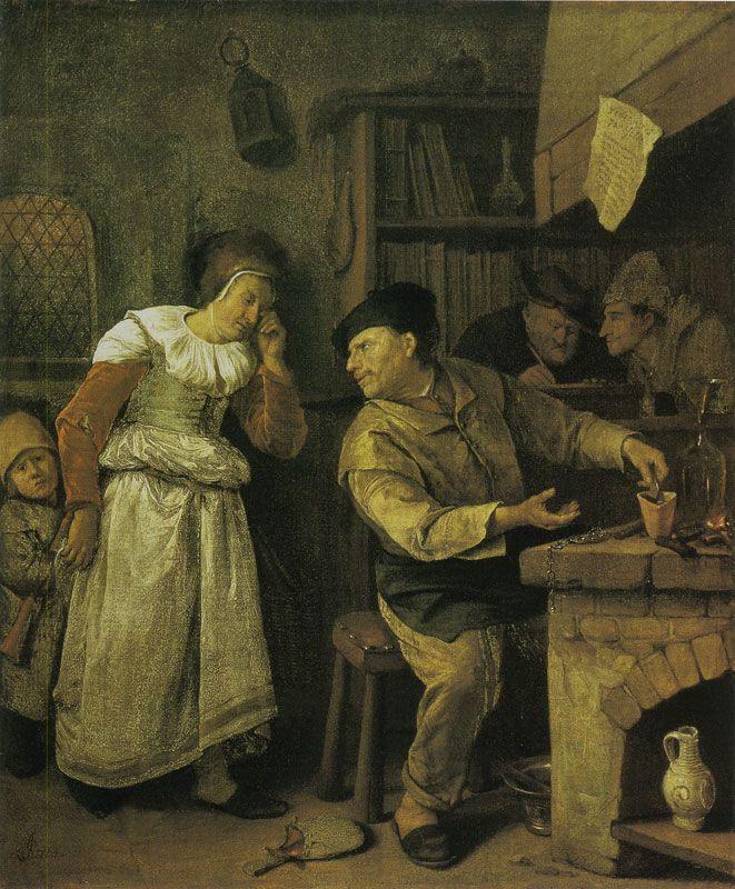 Jan Steen The Alchemist Art Dutch Painters Beer Painting