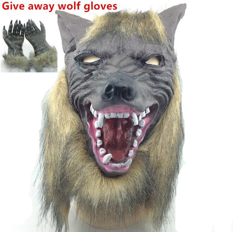 Halloween Bear with Teeth and Fur Mask Full Overhead Scary New Latex Animal