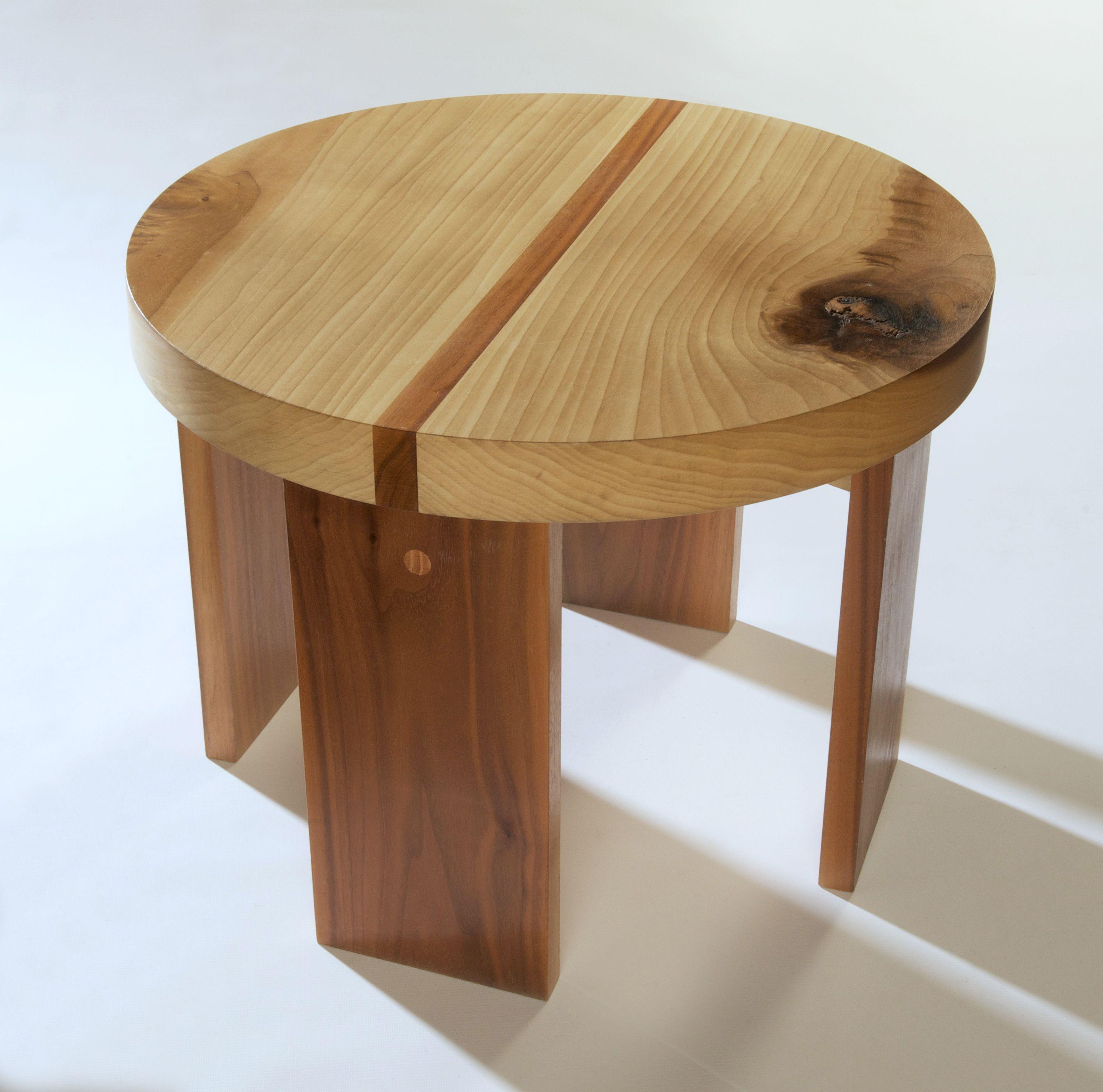 Lola Coffee Table With Storage: Circular Coffee Table In Tulip Wood
