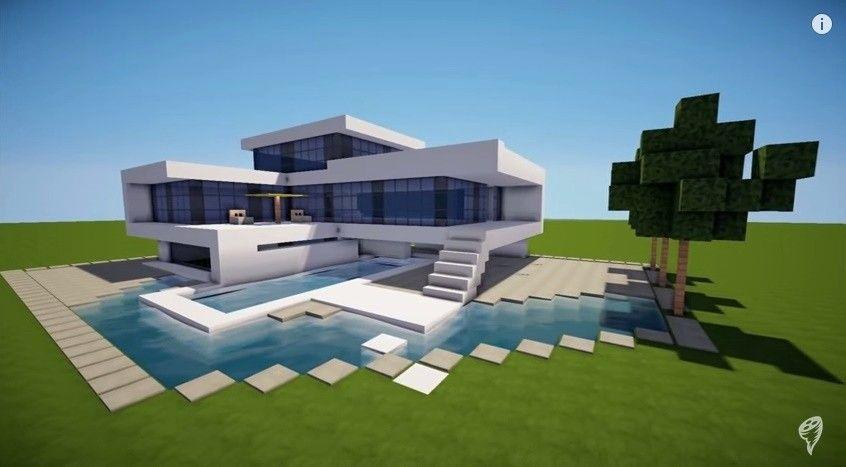 Minecraft Einfaches Modernes Haus Design Alle Dekoration Minecraft Haus Minecraft Haus Bauen Minecraft Haus Bauplan