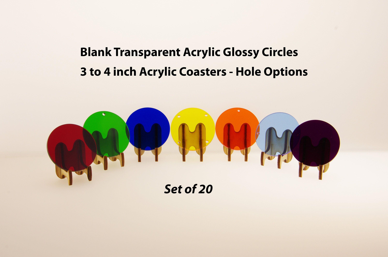 20 Acrylic Vinyl Circle Jewelry Blank Transparent Acrylic 3 Inch 4 Inch Acrylic Coaster Blank Round Acrylic Blank Keychains 3 4 Bl13 Vinyl Blanks Wedding Coasters Circle Jewelry