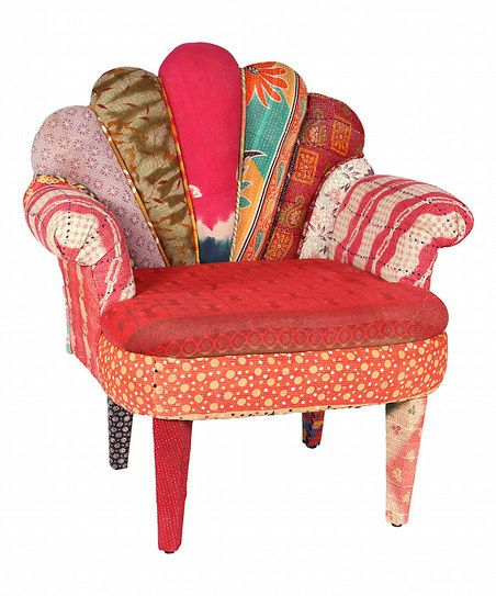 Vintage-inspired patchwork chair