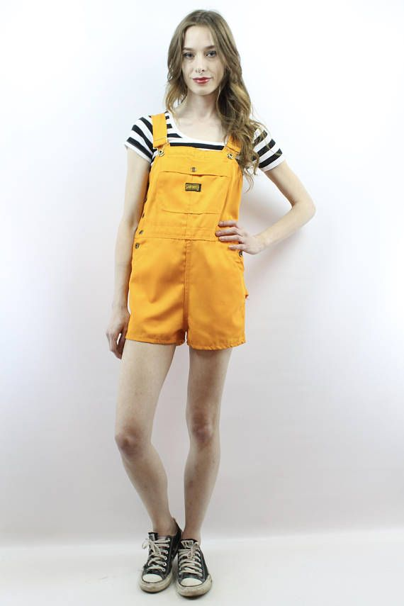 d16c1de80862 Vintage 70s Turtle Bax High Waisted Mustard Yellow Shortalls