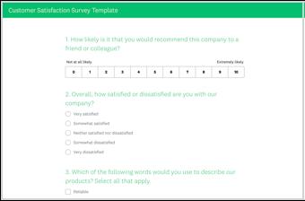 Surveymonkey Design Customer Satisfaction Survey Template