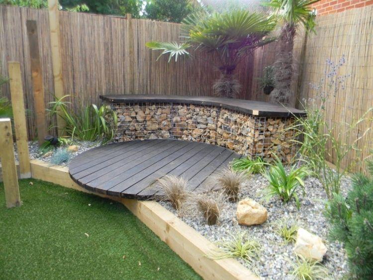 Créer un massif jardin surélevé et rond en gabion – 20 idées ...
