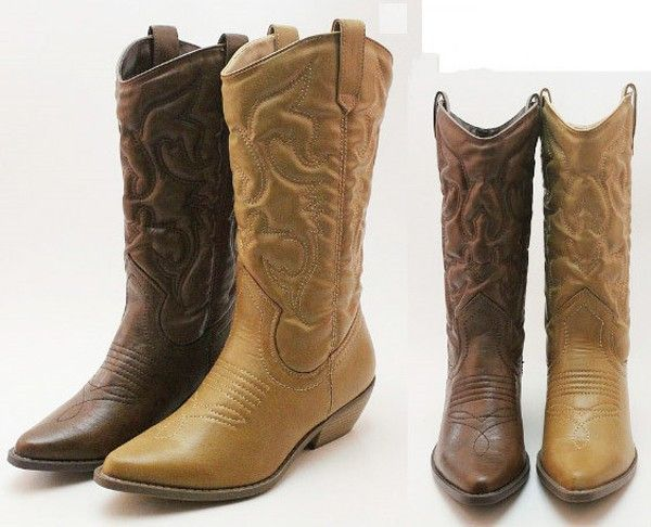 Cheap Brown Cowgirl Boots - Yu Boots