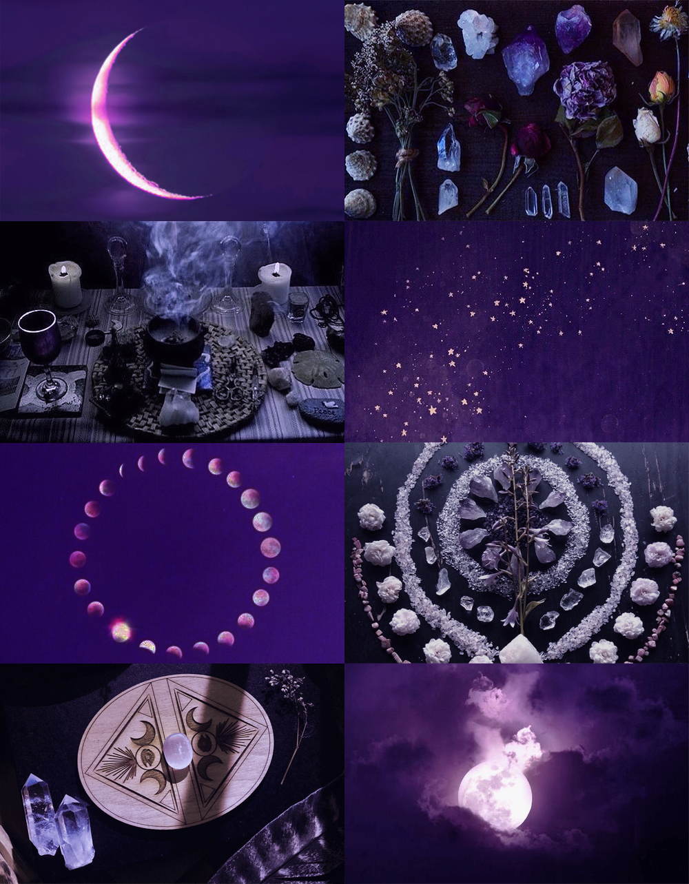 Purple Moon Witch, for Anon Purple aesthetic, Magic