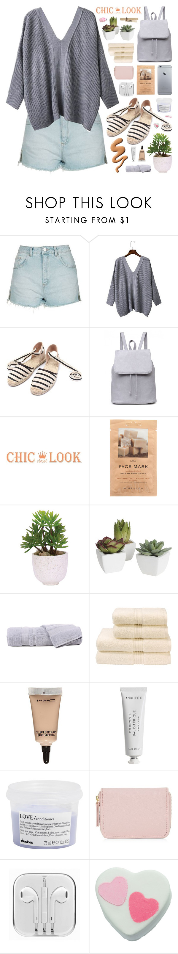 """CHIC LOOK CLOSET"" by novalikarida ❤ liked on Polyvore featuring Topshop, H&M, Lux-Art Silks, Pier 1 Imports, Hamam, Christy, MAC Cosmetics, Byredo, Davines and Tangle Teezer"