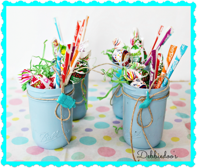 Shower decorating ideas with mason jars | Art lessons | Baby