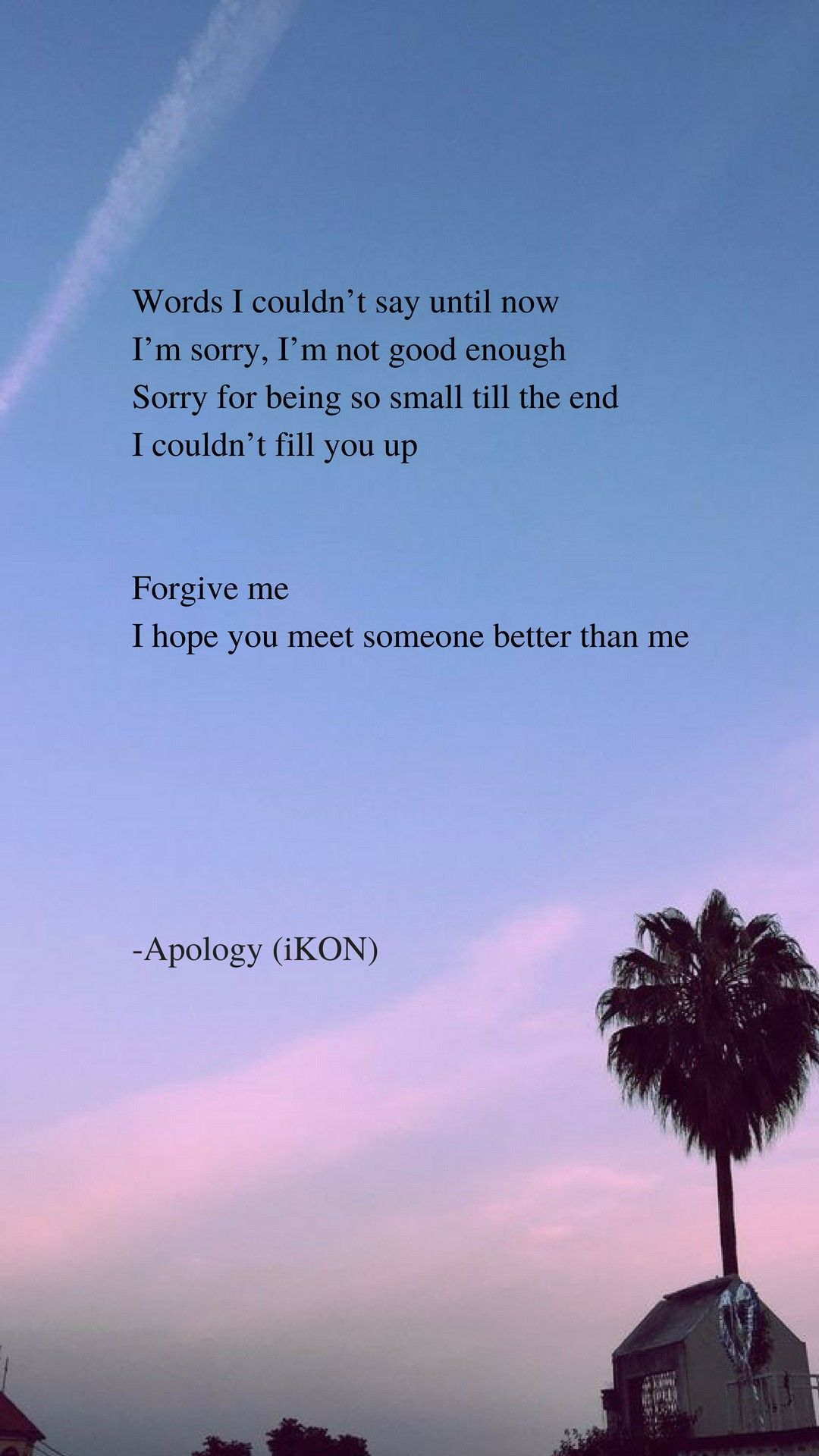 Apology By Ikon Lyrics Wallpaper Di 2019 Kutipan Lagu