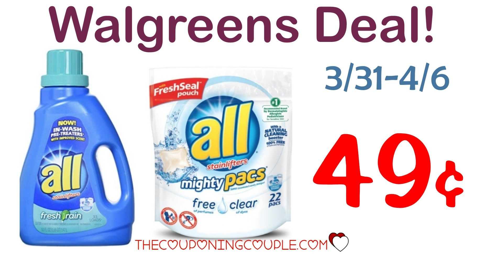 All Laundry Detergent Deal 1 99 At Cvs Walgreens And Rite Aid