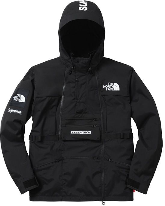 supreme jacke flagge north face