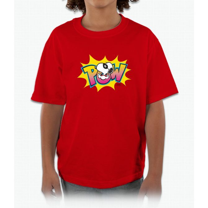 Peanuts Snoopy Pow Kids and Youth T-Shirt