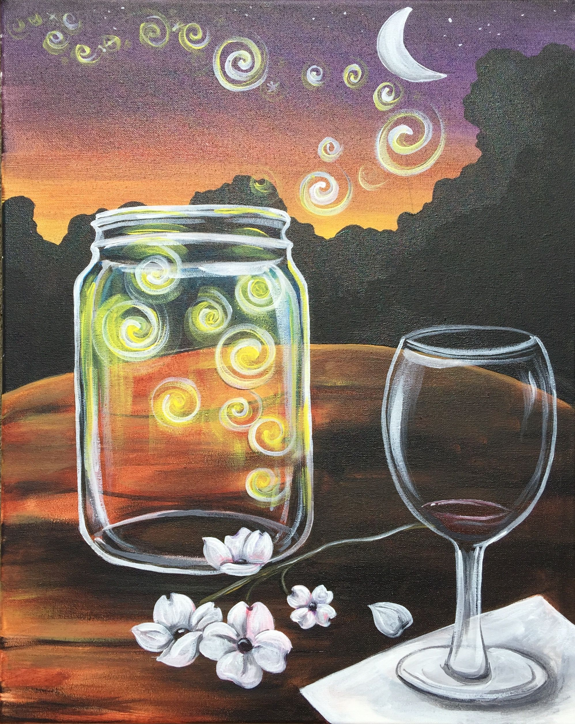 Greenville Sc Wine Design Paint And Sip Wine Painting