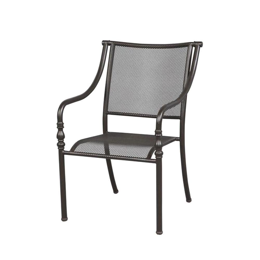 Hampton Bay Mix And Match Stack Patio Dining Chair Fcs60437a The Home Depot Patio Dining Chairs Small Apartment Interior Small House Interior