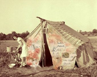 Vintage C&ing | Printable Art Instant Download Vintage C&ing Tent Cooking Gear . & Vintage Camping | Printable Art Instant Download Vintage Camping ...