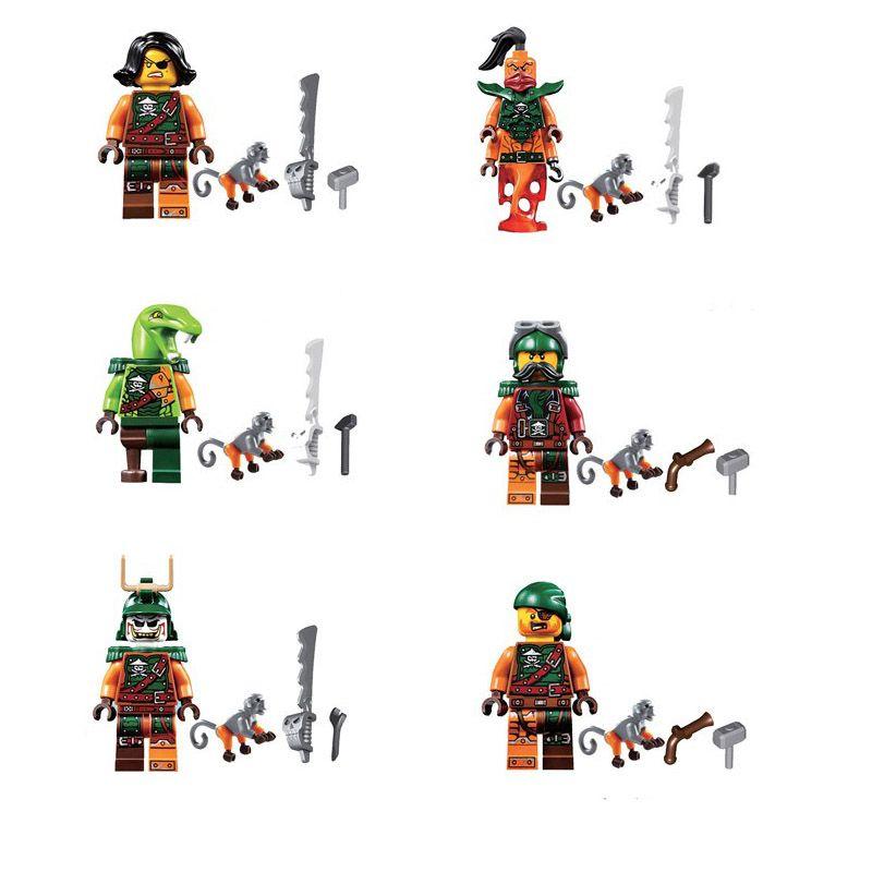 Lastest Flying Pirates Ninjagoes Building Block Nadakhan Flintlocke