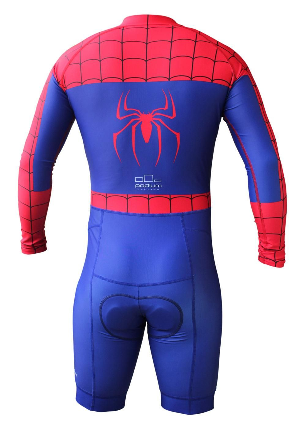 Podium Cycling Spiderman Inspired Cycling Skinsuit. Find this Pin and more  on Novel Cycling Gear ... 2e336d82a