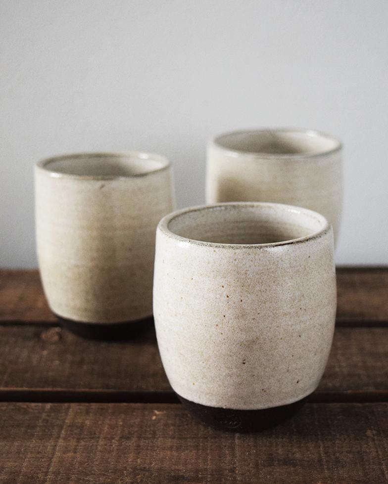 Chalk White Ceramic Beaker Large Handmade Ceramics White Ceramics Ceramics