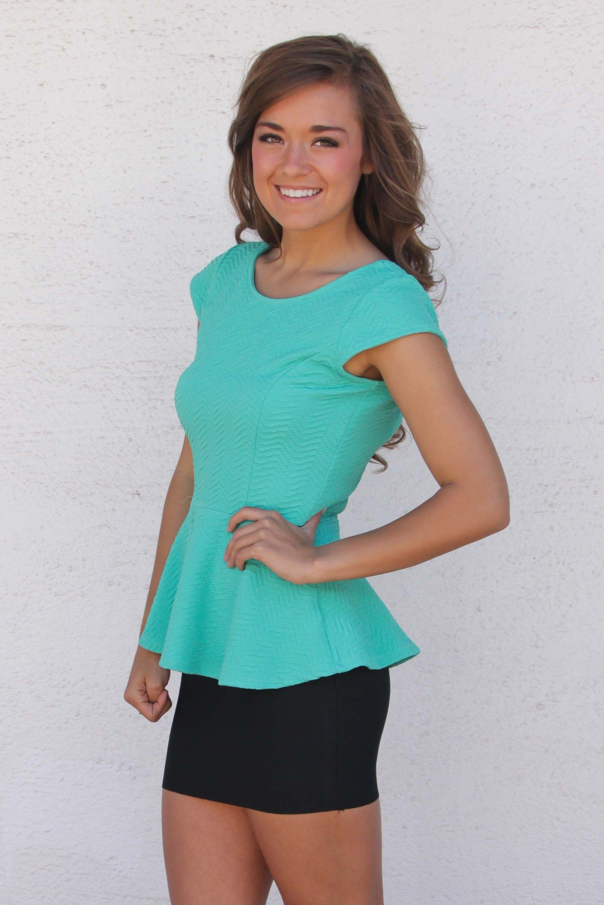Yep, another ADORABLE peplum top that is soon to be gone at blushnorman.com