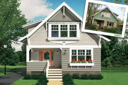 Craftsman Exterior Siding Cottage House Colors Paint