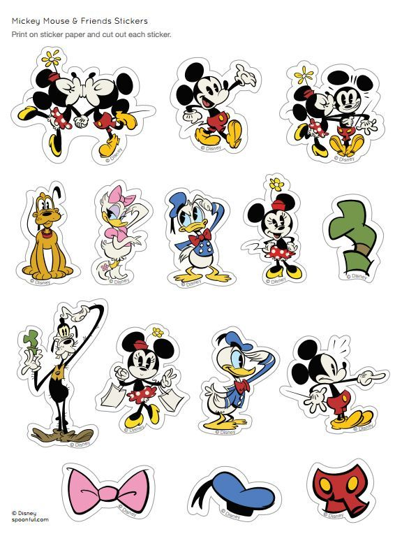 Mickey And Minnie Mouse Stickers.Free Minnie Friends Printable Stickers Free Minnie