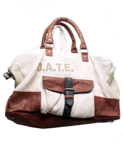 DATE WEEKEND BAG. CANVAS  LETHER.