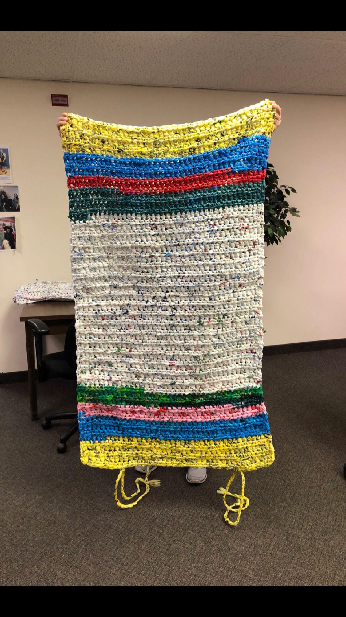 Plastic Bag Sleep Mat Recycled Plastic Bags Throw Blanket Crochet Blanket