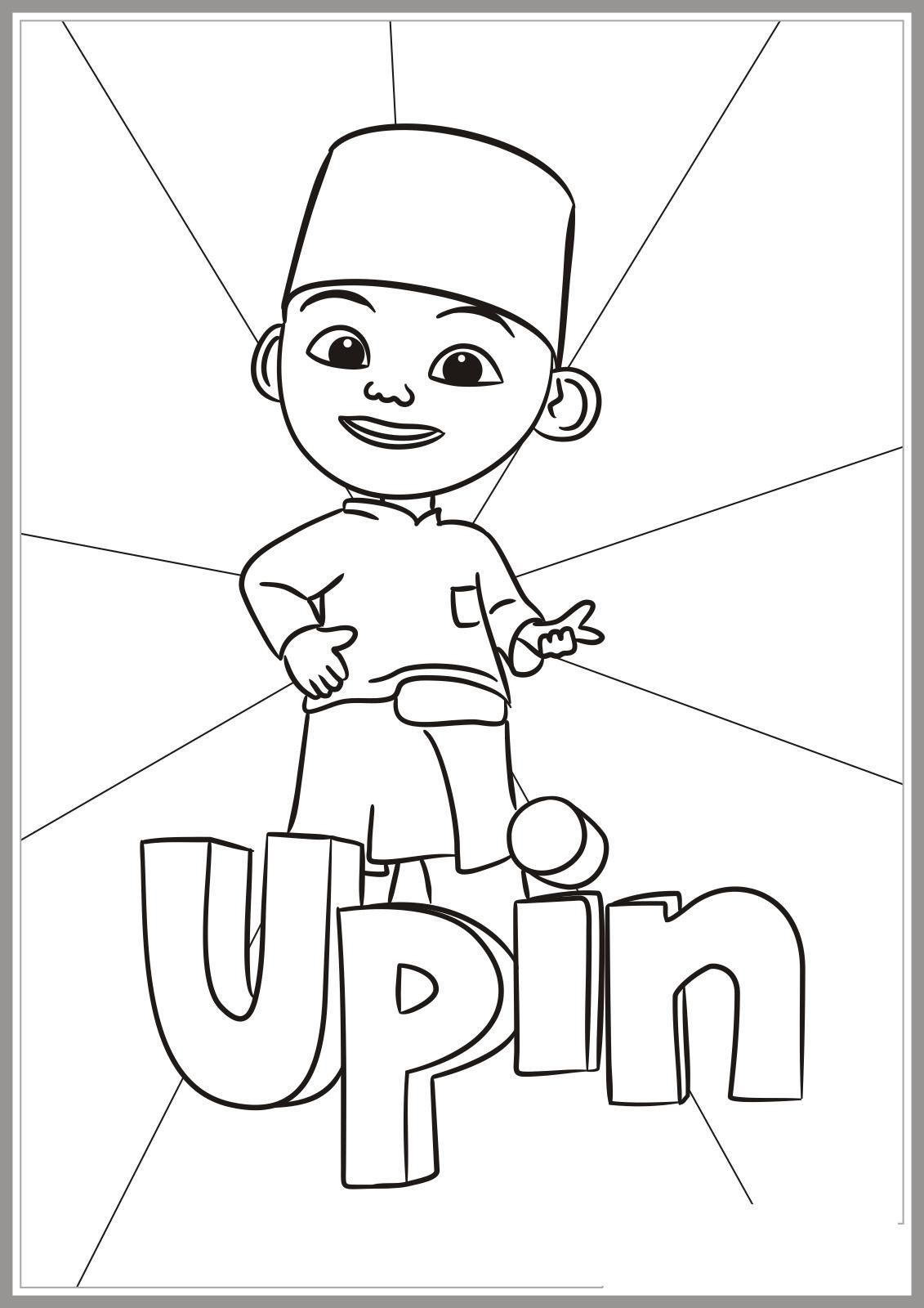 Coloring Sheet Page Upin Ipin 1