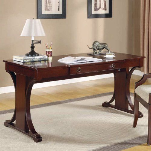 Crest Transitional Table Desk With Keyboard Drawer By Coaster Home Furnishings 465 07 Save 33 Home Home Office Computer Desk Home Furnishings