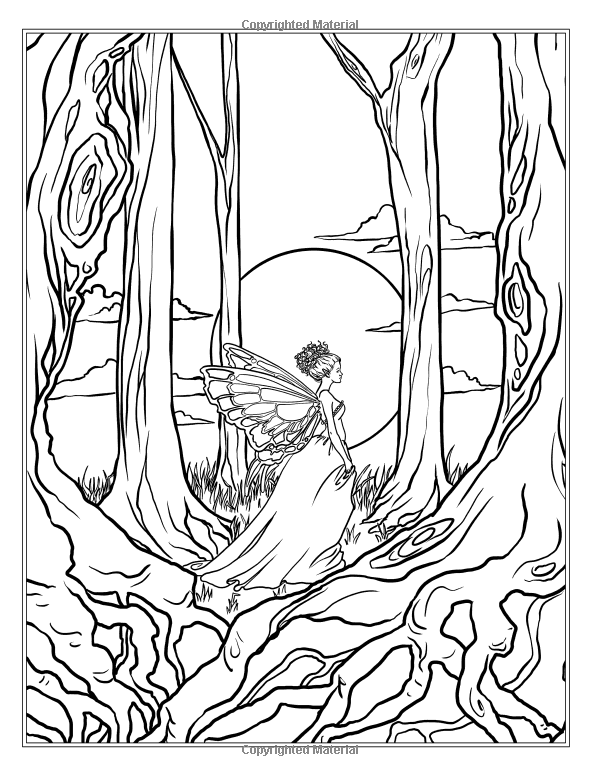 Robot Check Forest Coloring Pages Fairy Coloring Pages Detailed Coloring Pages