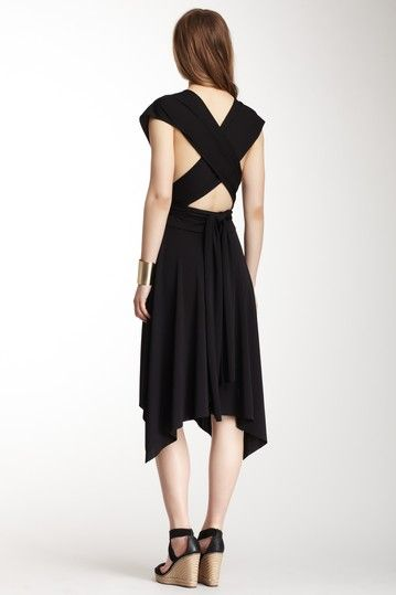 Karla multi silhouette dress black&white