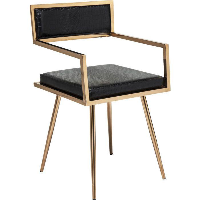 stuhl mit armlehnen »jazz« , schwarz/gold, von #kare design, Attraktive mobel