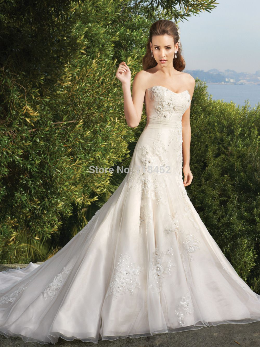 High fashion wedding dress  Click to Buy ucuc Appliques Beading Trumpet Wedding Dress Sweetheart