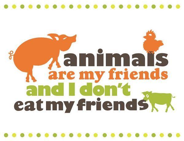 Animais são meus amigos e eu não como meus amigos :)