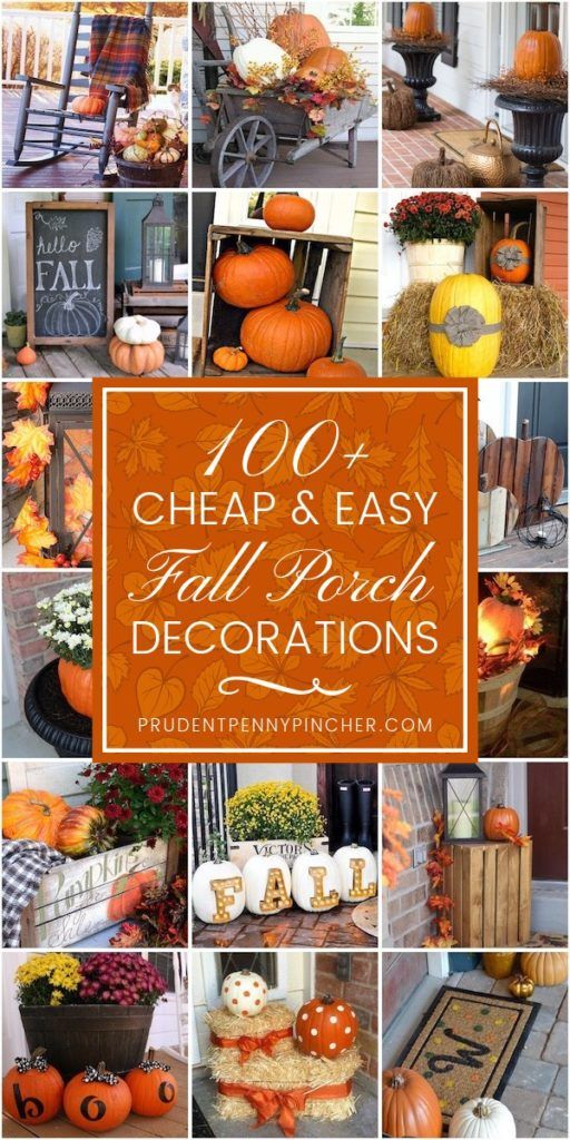Photo of 100 Cheap and Easy Fall Porch Decor Ideas