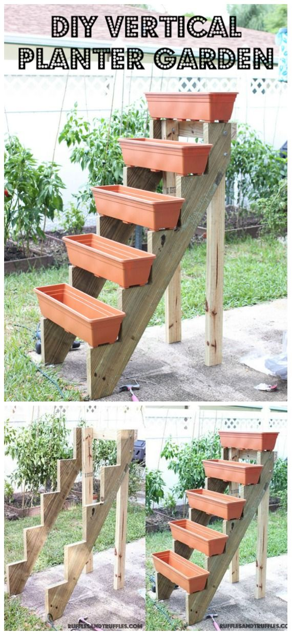 DIY Space Saving Vertical Garden Projects [Picture Instructions] is part of Diy garden projects, Garden projects, Vertical garden, Vertical planter box, Vertical vegetable garden, Diy garden decor - Here we have collected more than 20 DIY Space Saving Vertical Garden Projects that are easy for you to space up your garden this spring