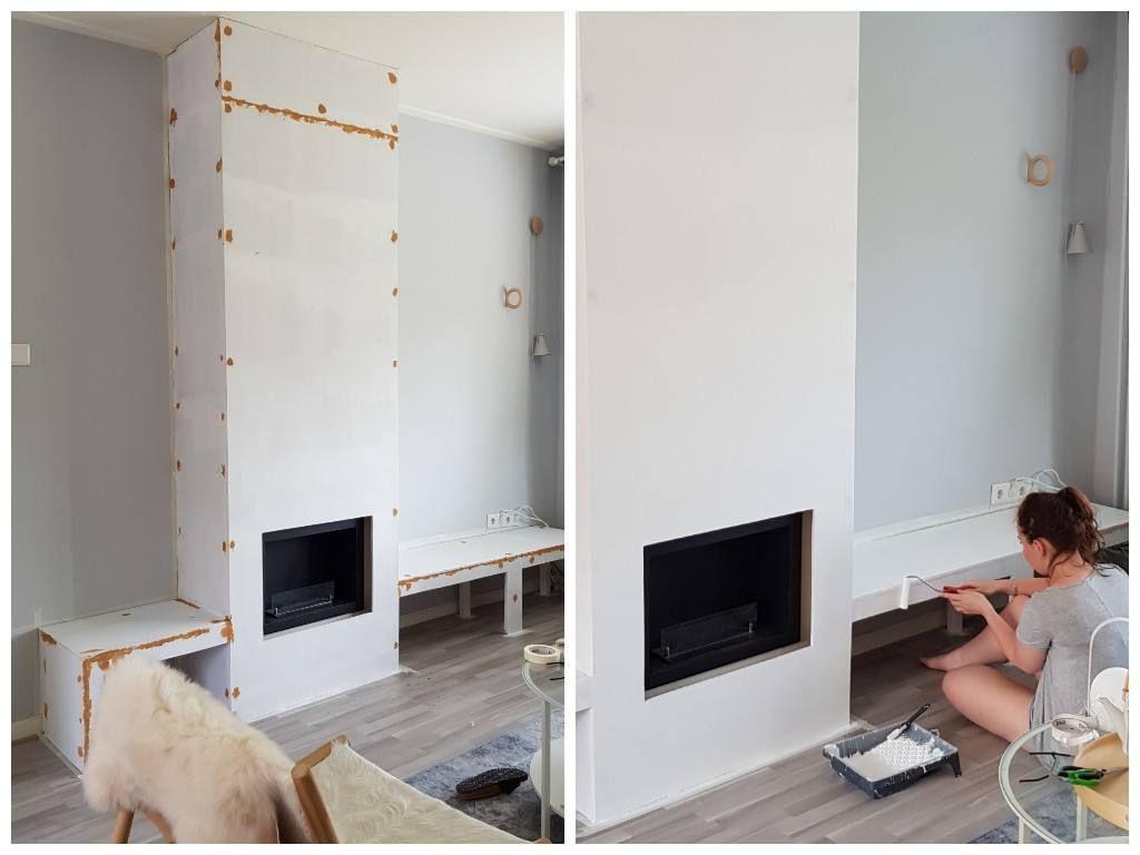 Welp DIY: schouw maken | Open woonkamer, Openhaard ideeën DE-95