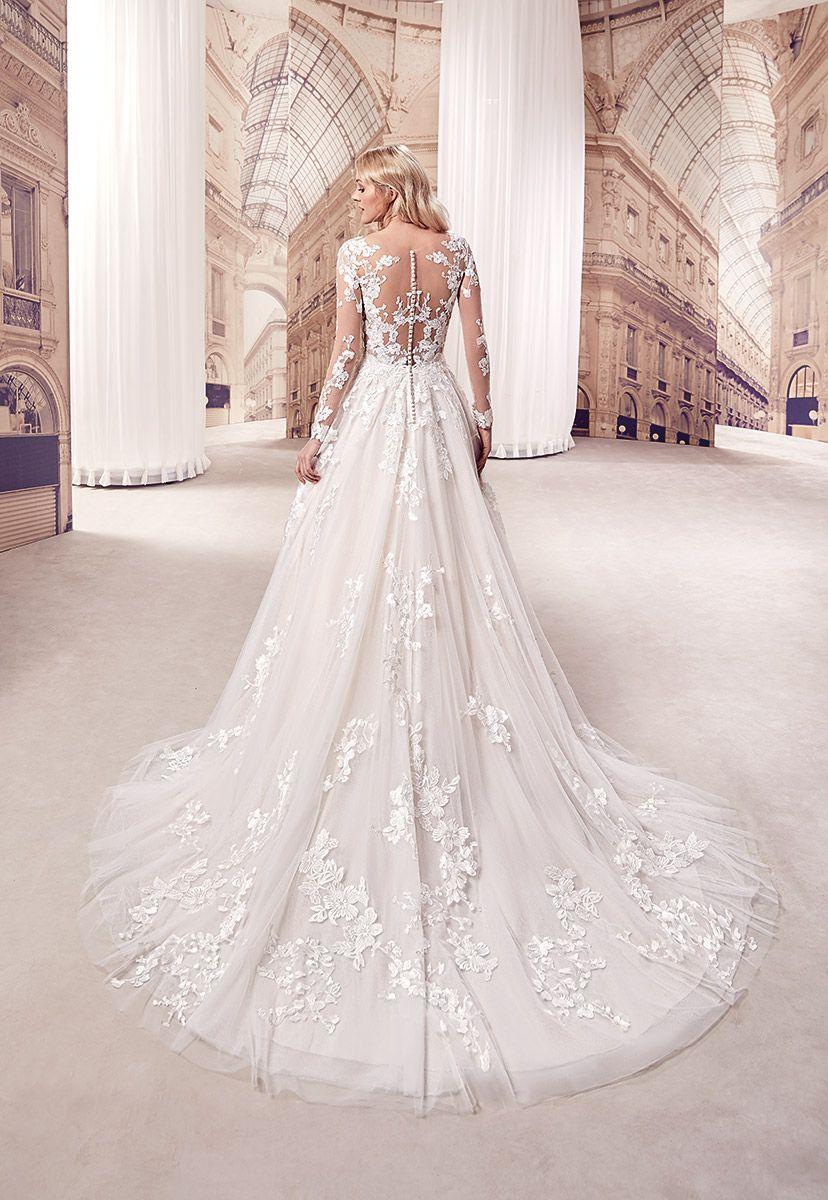 c8c835fbeaabe Wedding Dress #MD269 – Eddy K Bridal Gowns | Designer Wedding Dresses 2019  | Elegant, regal long-sleeve gown with beautiful lace #eddyk #eddykbridal  ...