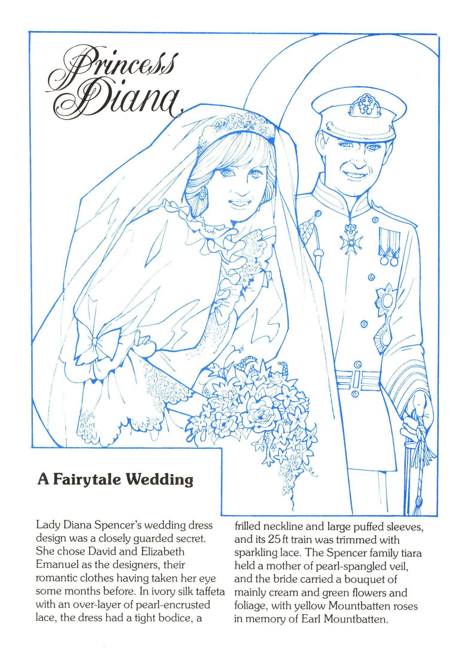 Princess Diana Fashion Collection Book 1 Coloring Pages