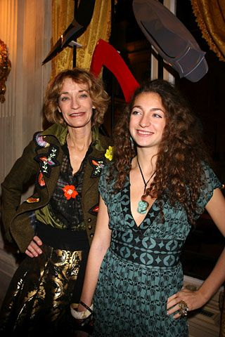 Loulou de la Falaise and daughter Anna Klossowski, at the Roger Vivier book launch.