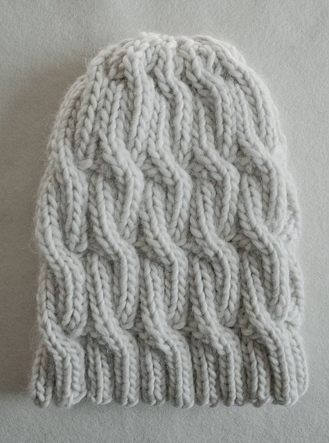 Super Soft Merino Chunky Cable Hat pattern by Purl Soho