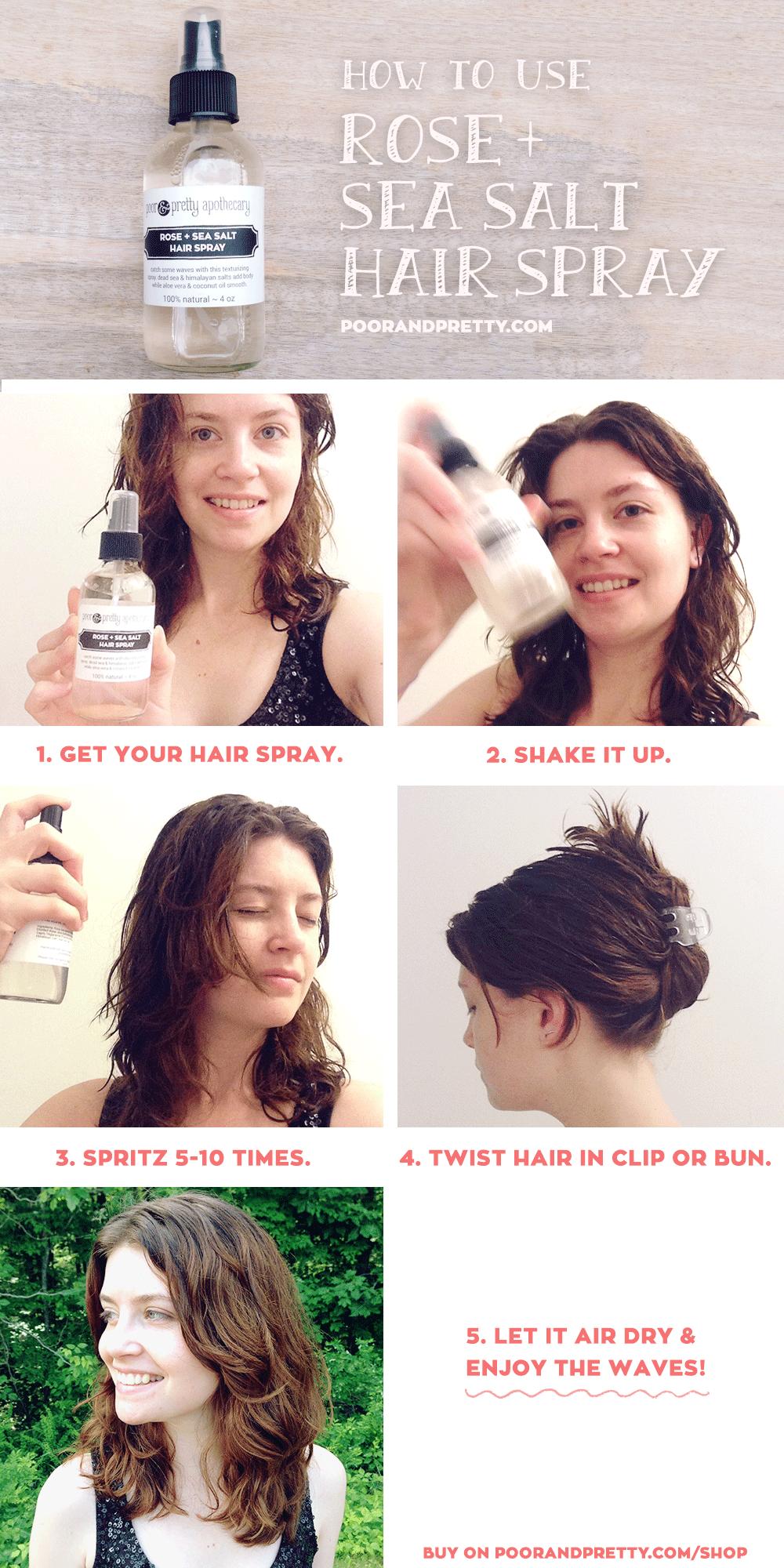 Poor Pretty Sea Salt Spray For Hair Sea Salt Hair Hair