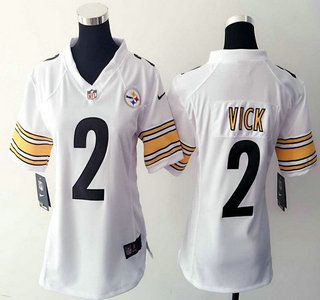 online store 7b4e4 83acc Women's Nike Pittsburgh Steelers Jersey 2 Michael Vick Game ...