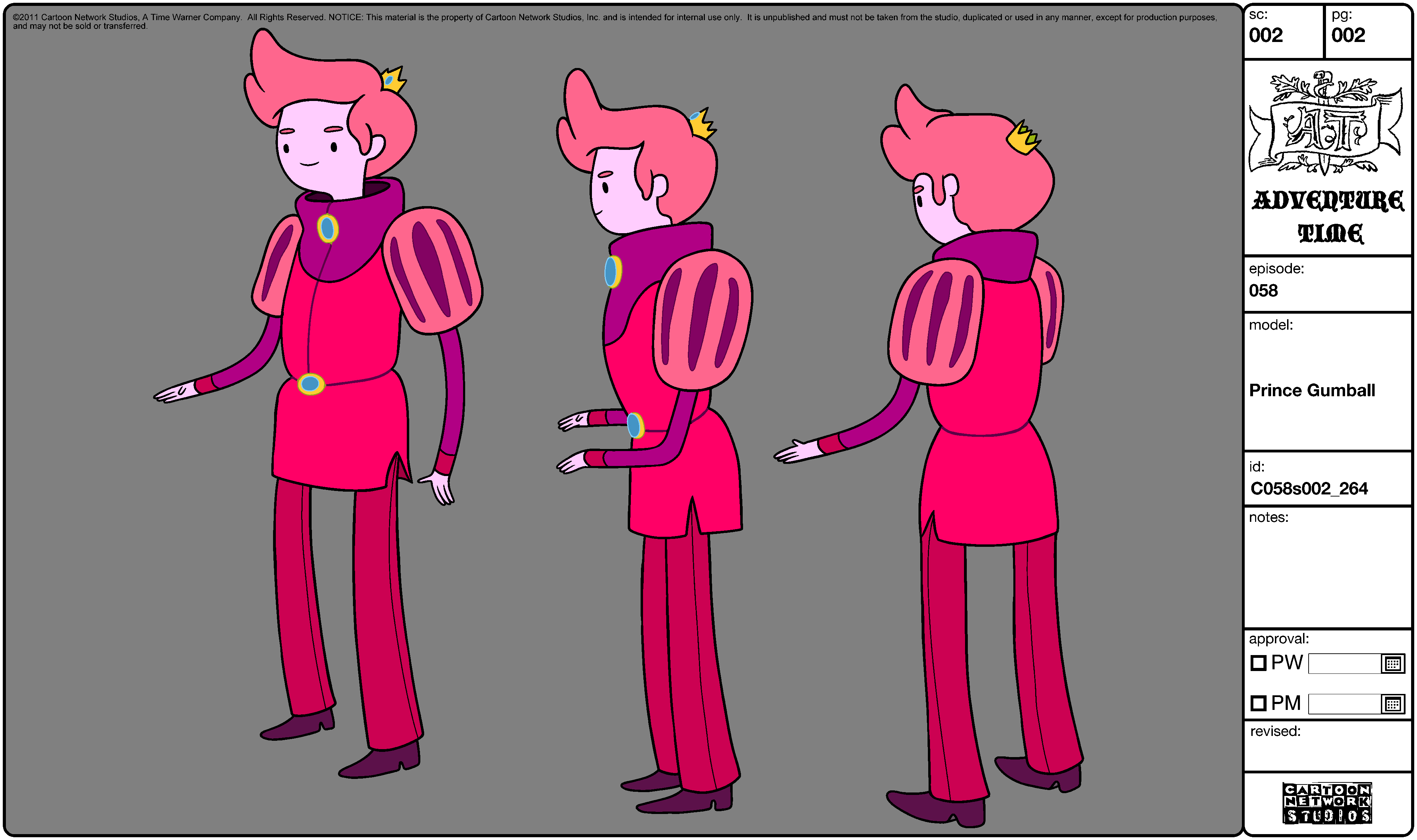 Adventure Time Character Design Sheets : Prince gumball concept art and character