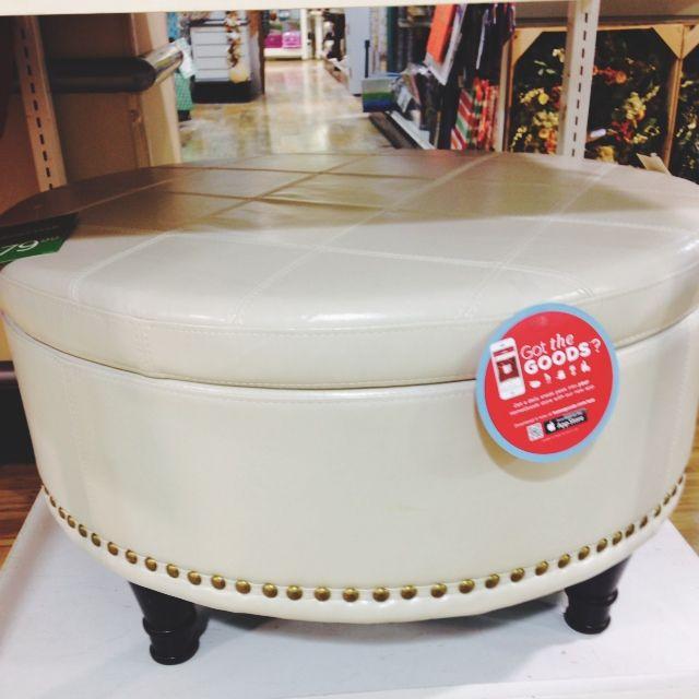 Homegoods Com Online Shopping: Large Round Storage Ottoman