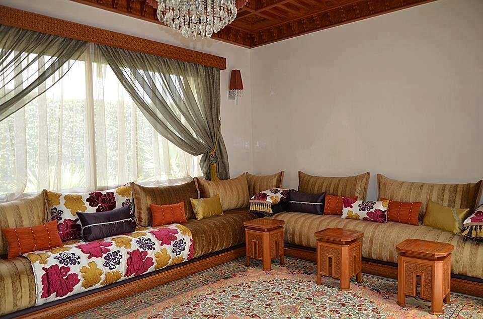 Salon marocain traditionnel en Bois | Salons marocains en ...