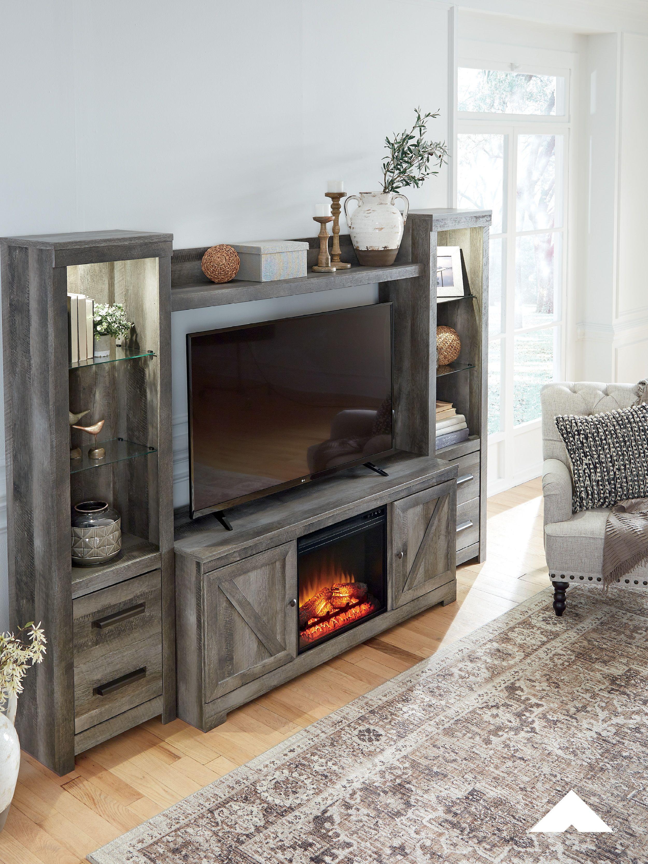Wynnlow Entertainment Stand Set By Ashley Furniture Ashleyfurniture